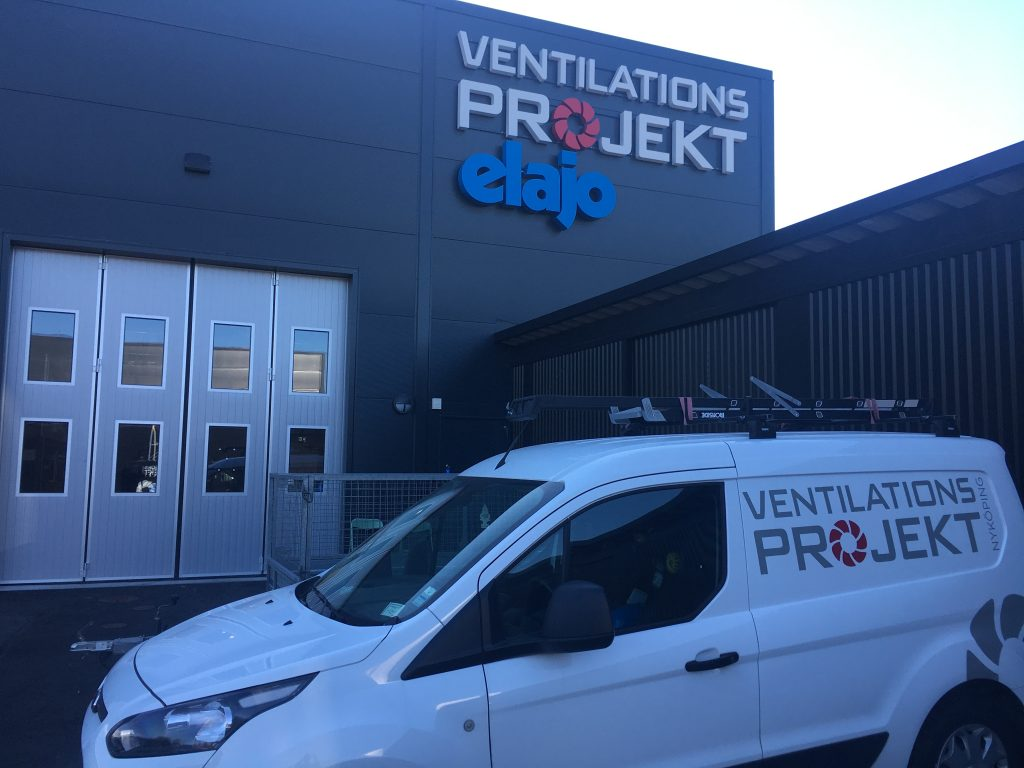 Ventilationsprojekts nya lokaler i Nyköping